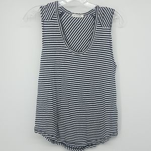 Rag & Bone Blue White Striped Sleeveless Shirt na1